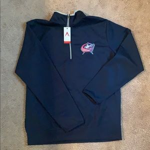Antigua blue jackets quarter zip NWT